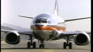 FREE FOOTAGE - 747 Jumbo Jet Taxis On Runway 2