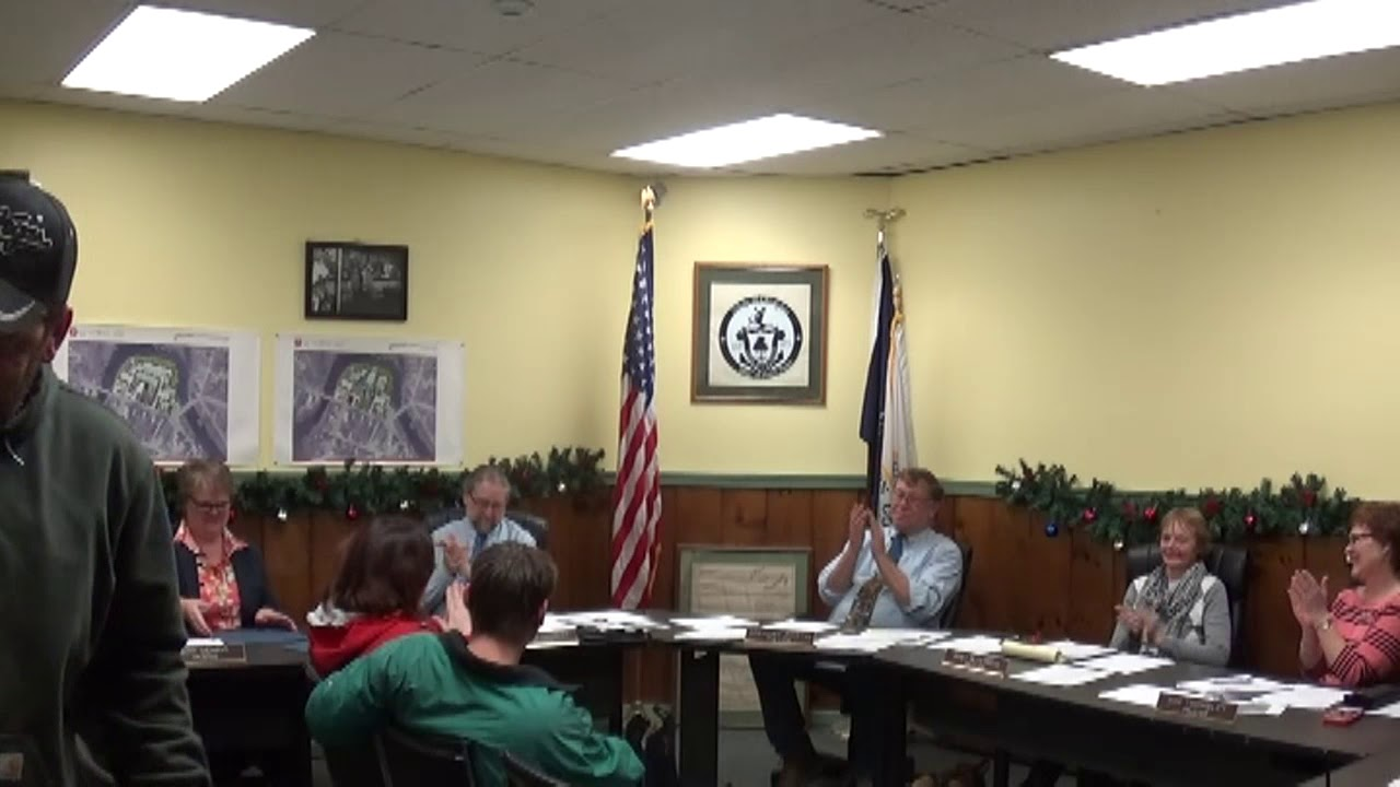 Champlain Village Board Meeting  1-8-18