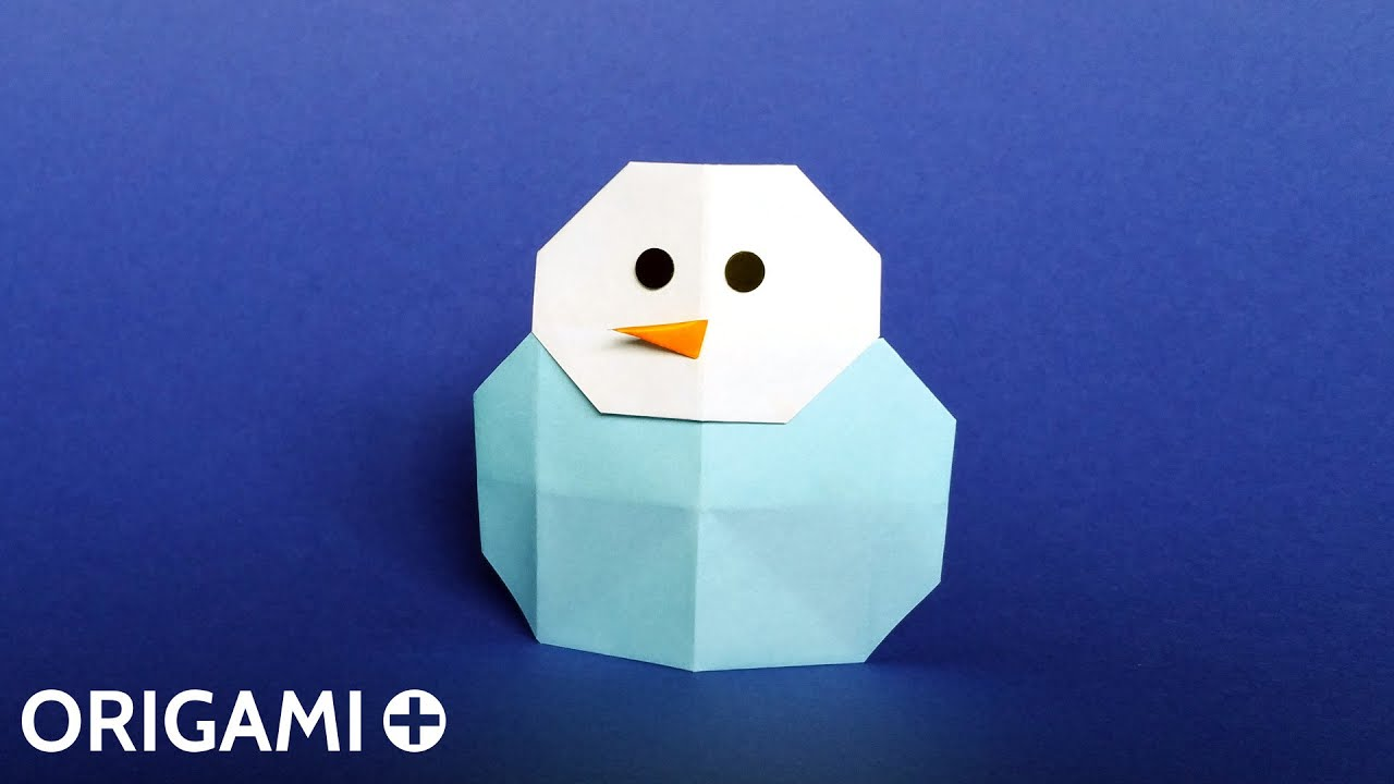 origami snowman bonhomme de neige mu241eco de nieve