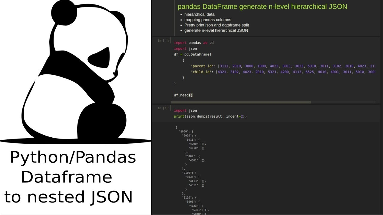 Pandas DataFrame generate n-level hierarchical JSON