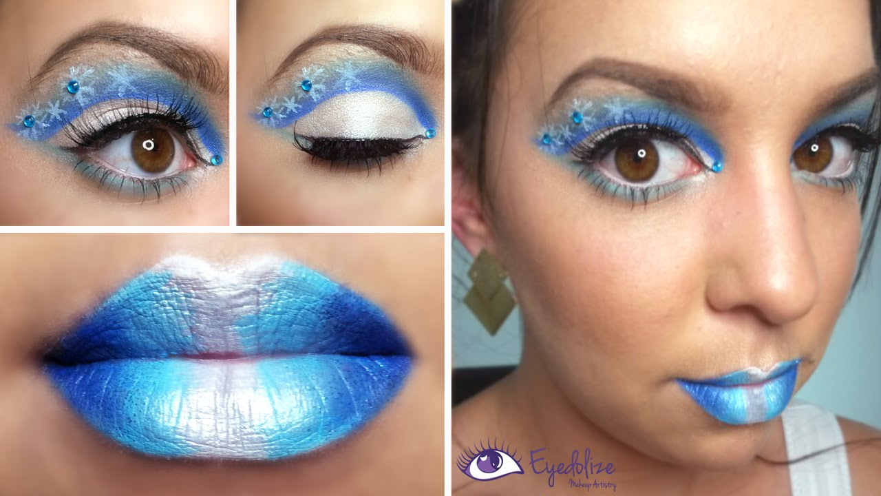 Frozen Snowflake Christmas Makeup Tutorial By