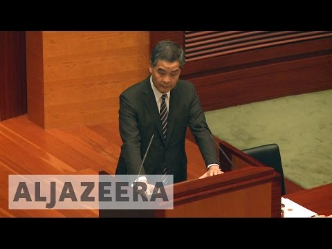 Hong Kong chief executive says no room for independence