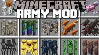 Minecraft EXTREME MOB ARMY MOD / FIGHT OFF EVIL ZOMBIE APOCALYPSE WITH SKELETON ARMY! Minecraft Mods