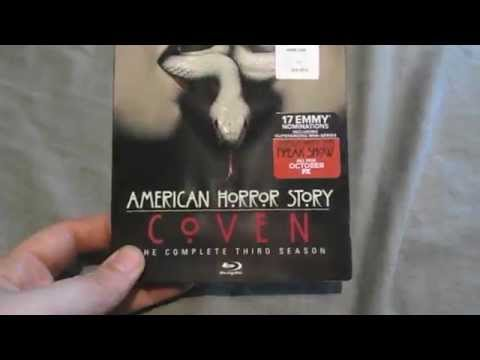 American Horror Story Coven Blu-Ray Unboxing Opening, The Complete Third Season, Nice Slipcover!!