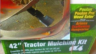 Mower Mulchkit install 42