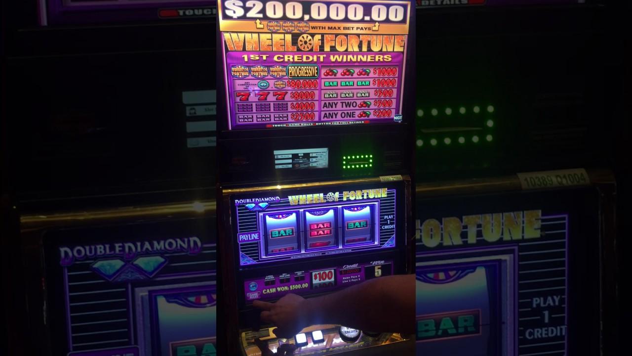 100 Dollar Wheel of Fortune Slot Machine Big SPIN - YouTube
