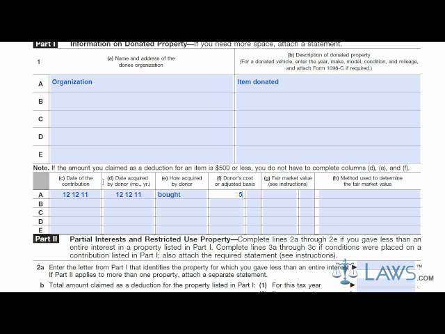 Irs Form 8283 Report Noncash Charitable Contributions