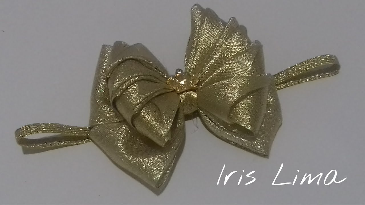 Como fazer laço mil faces parte 1 Diy ,Tutorial ,Pap By Iris Lima How To  Make a Hair Bow