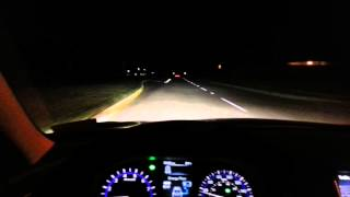 Infiniti Q50 Hybrid Sport Night Driving