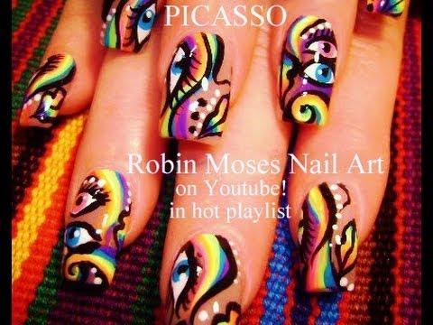 VMA Nail Art | DIY Picasso Nails! Cool Abstract Nail DesignTutorial