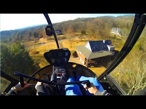 R22 Helicopter Add-On Full Lesson #15 1080HD + Cockpit Audio, Backyard Landing!/Autos