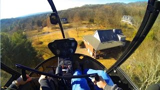 R22 Helicopter Training #15 Backyard Land!!!