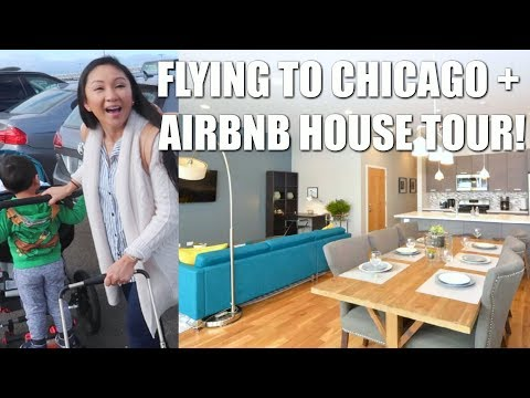 FLYING TO CHICAGO + BEST AIRBNB WE EVER STAYED! 🏠