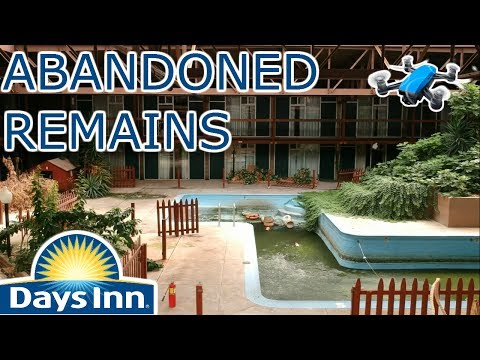 ABANDONED Days Inn - Drone Footage From Inside