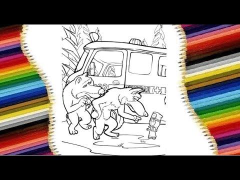 Маша и Медведь. На карантине. Раскраска - YouTube