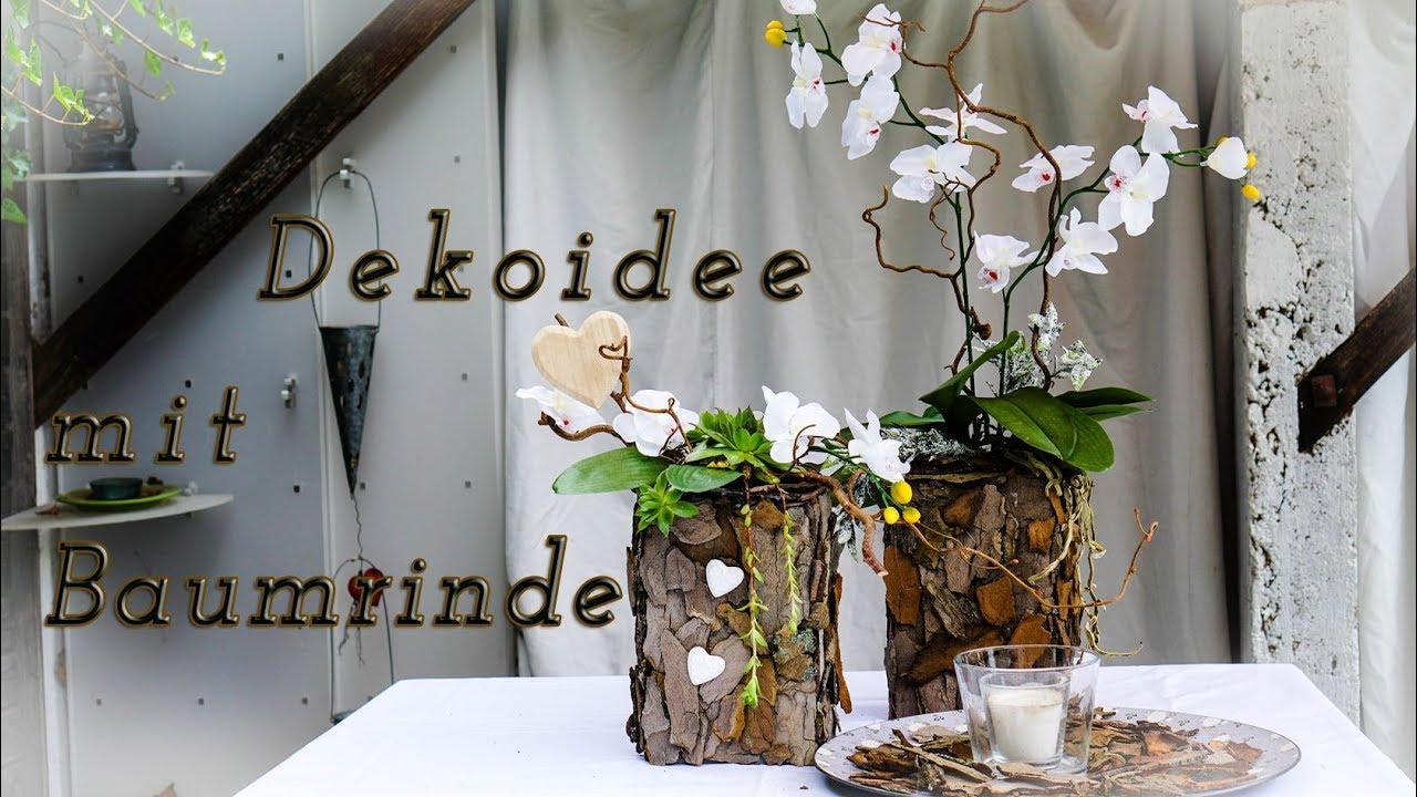 Dekoidee Mit Baumrinde Diy Youtube