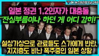 """일본 정권 1,2인자가 대충돌 """"잔심부름이나 …"""