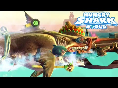 MEGALODON MAX LEVEL GADGETS HIGH SCORE! - Hungry Shark World Part 11 (HSW) - NEW GADGETS!