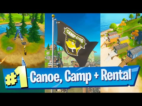 Dance At Lake Canoe, Camp Cod, And Rainbow Rentals Location - Fortnite Battle Royale