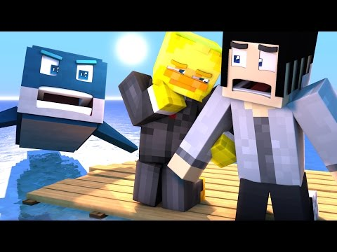 Minecraft Raft - DEADLY SHARK ATTACK! | Minecraft Roleplay