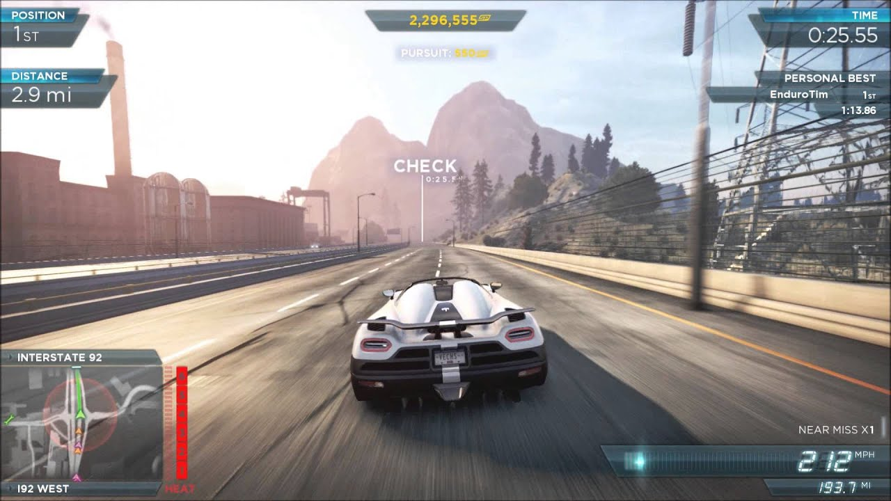 need for speed most wanted trailblazer with the koenigsegg. Black Bedroom Furniture Sets. Home Design Ideas