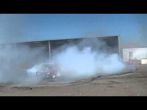 Menace Burnout Car smashing tyres at MAFIAs Bucks show
