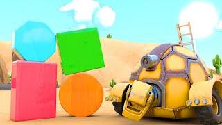 АнимаКары Учим фигуры вместе с черепахой Обучающие мультики для детей с машинами и зверями