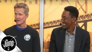 Steve Kerr and Scottie Pippen reminisce on Phil Jackson\'s \'unique\' film session tactics | The Jump