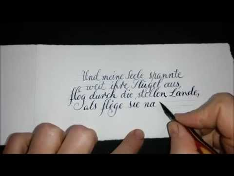 Kalligraphie Karte Spitzfeder from YouTube · Duration:  1 minutes 16 seconds