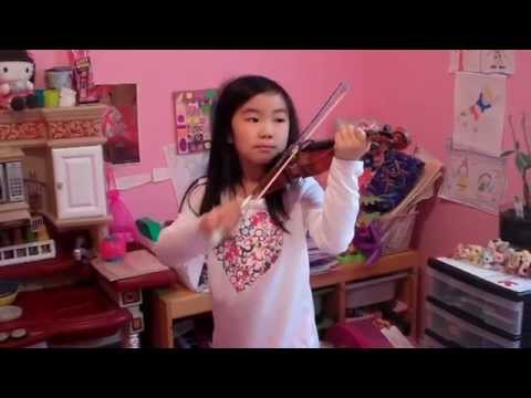 Jingle Bells Christmas Beginner Violin Song - Jesenice December 2014
