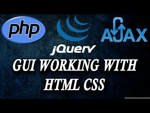 ajax jquery php chat app  working with html css  part 1