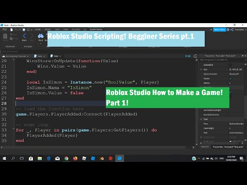 Roblox Studio Playeradded Roblox Studio How To Make A Game Part 1 Youtube