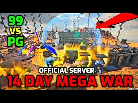 Wiping Day 1 Mega Tribe On Day 14470 - 99 Vs PG Official Server Ark Survival