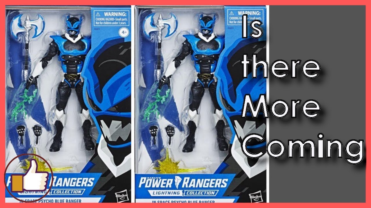 Power Rangers In Space Lightning collection Psycho Blue Ranger