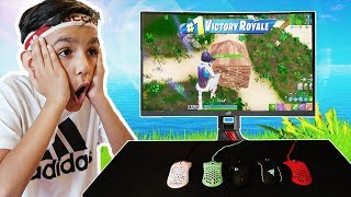 Every Death My Little Brother Switches His Mouse In Fortnite!