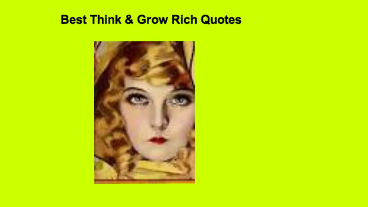 Image Result For Youthink And Grow Rich