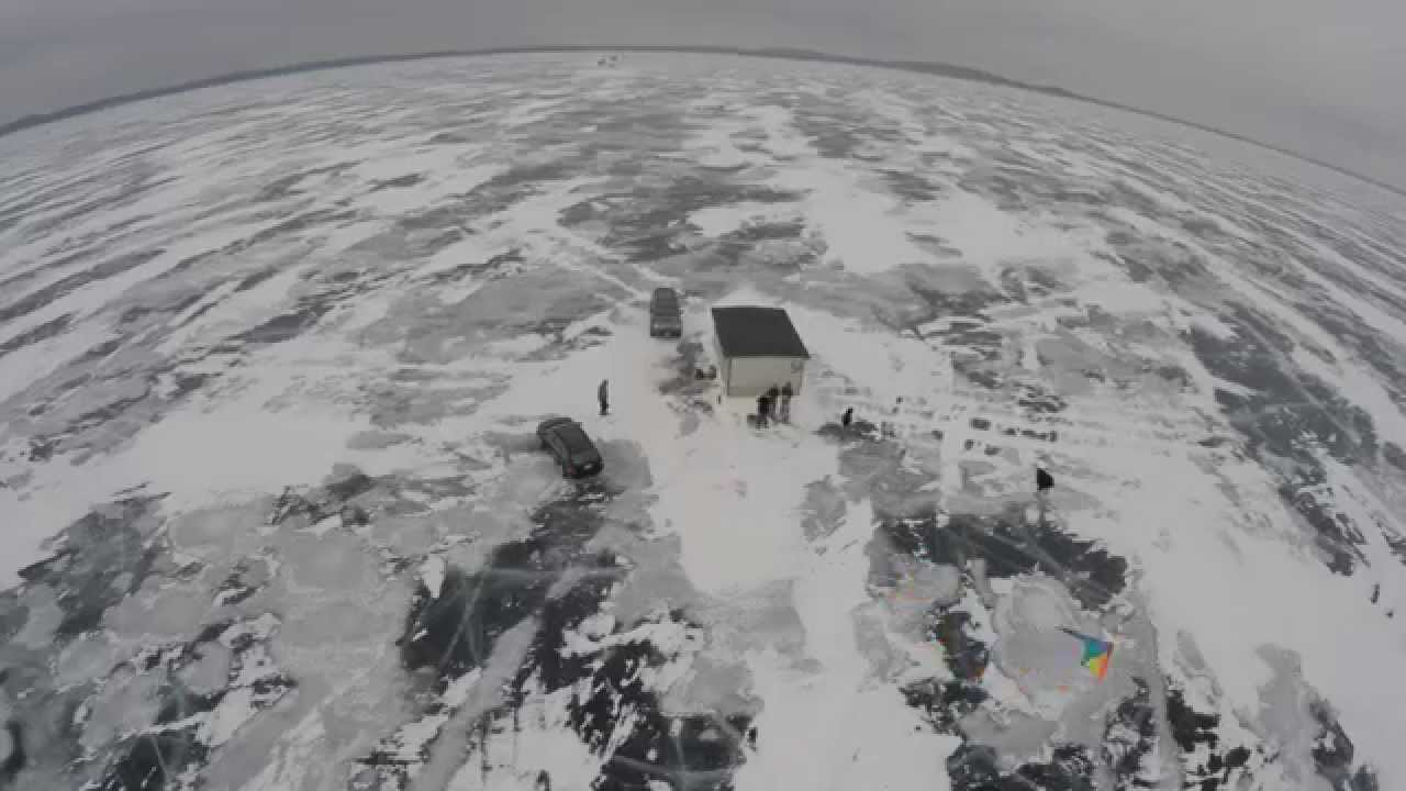 Ice fishing kiting mille lacs 4k youtube for Mille lacs ice fishing report
