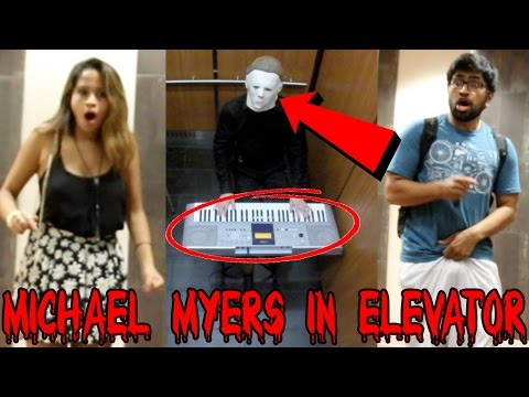 MICHAEL MYERS PLAYS PIANO IN ELEVATOR PRANK (Public Reactions)