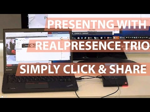 How To Present Content Via USB On Polycom Trio - Simply Click & Share