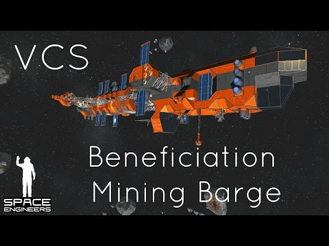Space Engineers – Void Corp (Episode 2): Beneficiation Mining Barge and Comminution Mining Drones