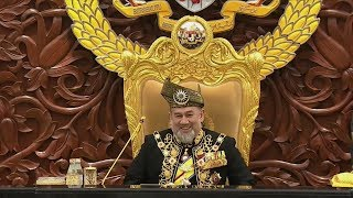 King jokingly tells MPs: 'Sit down and don't run away'