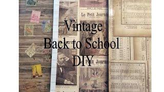 DIY Vintage Back to School Supplies 2016 | V Stuff