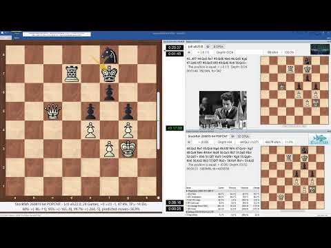 Leela Chess Zero J13B.2-136  vs. Stockfish 260819, TC = 90m+30s