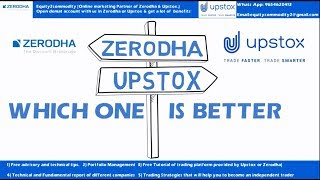 Zerodha Vs Upstox: Detail Analysis: Which One is Better: कहाँ खोलें Demat Account?