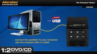 Aleratec 1:2 DVD CD Copy Cruiser Pro HLX - LightScribe Duplicator Win/Mac part # 260167
