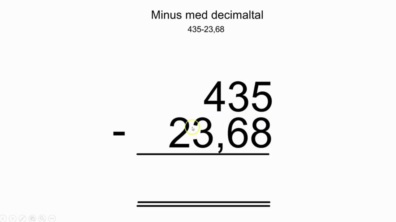 Minus med decimaltal
