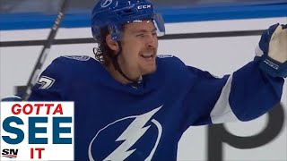 GOTTA SEE IT: Yanni Gourde Scores For Lightning, Nobody Notices