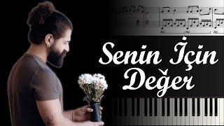 Senin İçin Değer (Koray Avcı) [Piyano]+[Nota]+[Karaoke] Video