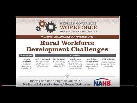 Webinar: Rural Workforce Development Challenges