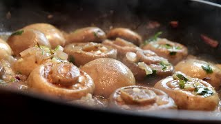 Delicious mushrooms, ready in 10 minutes